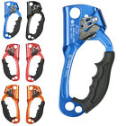 Right/Left Hand Tree Climbing Ascender Rope Clamp Mountaineering Rescue Gear
