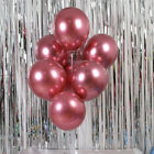 "50Pcs 12"" Metallic Balloons Shiny Latex Bouquet Ballon Wedding Birthday Party US"