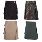 Mens Utility Combat Kilt Punk Goth Style - Various Styles All Sizes - FREE GIFT