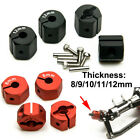 1/10 Wheel Hex Nut 12mm Hex Wheel Hubs Parts + Screws For Rc Cars