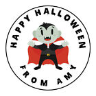 Personalised Halloween Spooky Scary Witch Thank You Party Stickers Sweet Cones
