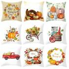Halloween Happy Pillow Cases Fall Sofa Pumpkin Throw Cushion Cover Home Decor US image