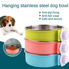 1C62 Plastic Bowl Dog Feeder Pet Accessories Water Multipurpose Cage Bowl