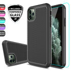 For iPhone 11 Pro Max Shockproof Hybrid Armor Case Cover + US Screen Protector