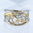 Kyпить Fashion Two Tone 925 Silver Rings Women Jewelry White Sapphire Ring Size 6-10 на еВаy.соm