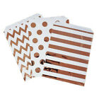 Foil Rose Gold Star Wave Stripe Spots Party Wedding Paper Favour Candy Bags asf