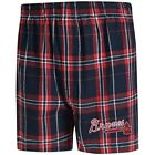 Atlanta Braves Concepts Sport Hillstone Flannel Boxers - Navy/Red on Ebay