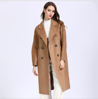 Female Autumn New Korean Version Of The High-end Long Section Handmade Wool Coat