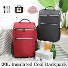 20L Cooler Insulated Lunch Bag Travel Picnic Lunch Camping Cold Drink Backpack
