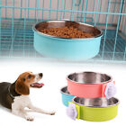 8B23 Plastic Bowl Cage Bowl Food Water Detachable Dog Feeder
