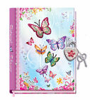 Secret Butterfly Unicorn Mermaid Ballerina Diary With Lock Key Heart Shaped