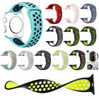 Silicone For Apple Watch 1/2/3/4/5 iWatch Sport Band Strap 40mm 44mm Womens Mens image