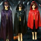 Carnival Unisex Children Cloak Cape Halloween Cosplay Hooded Mantle Wicca Witch
