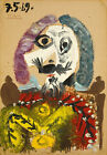 Buste D'homme, 1969 by Pablo Picasso Art Print Poster Museum Painting
