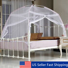US White Portable Folding Mesh Insect Bed Canopy Dome Tent Mosquito Net  US image