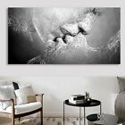 Black & White Abstract Art Love Kiss Canvas Painting Print Poster Picture