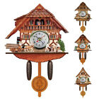 Antique Wooden Cuckoo Wall Clock Bird Time Bell Swing Alarm Home Art Decor Gifts