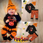 Newborn Baby Girls Boys My 1st Halloween Bodysuit Romper Pants Outfits Costume