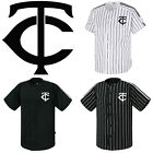 Minnesota Twins Striped Button Jersey Baseball Open T-Shirts Uniform 0108 on Ebay