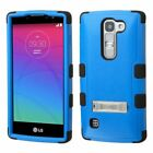 For LG Spirit C70 Escape 2 Logos Hybrid TUFF Protective Hard Stand Case Cover