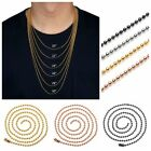 "Gold Black 20""-30"" Stainless Steel Ball Bead Chain Necklace Fit Pendant Jewelry"