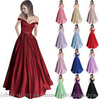 Sexy Off Shoulder Prom Gown Long Formal Wedding Party Evening Bridesmaid Dresses