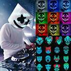Neon Stitches Mask LED Wire Light Up Party Purge Halloween DJ Club Cosplay Prop