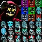 Halloween Mask Neon Stitches LED Wire Light Up Costume Rave Party Cosplay Masks