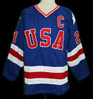 MIKE ERUZIONE 21 1980 TEAM USA MIRACLE ON ICE HOCKEY JERSEY SEWN NEW ANY SIZE