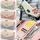New Womens Leather Wallet Lady Long Card Holder Trifold Clutch Handbag US FAST image