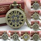 BSN Nostalgic Punk Style Pocket Watch  Vintage Steampunk Retro Bronze Design Poc image