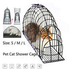 Pet Cat Kitten Washing Cage Multi-Functional Injection Shower Bath Wire Kennel