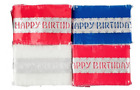 Traditional Happy Birthday Cake Frill Silver Foil Centre Decoration 3 Colours