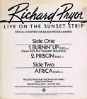 "RICHARD PRYOR Live on Sunset Strip WB Vinyl 33 12"" Single Record VG+ Promo 1982"