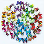 12 Pcs 3d Butterfly Stickers With Magnet Art Decal Home Room Party Decor Gifts