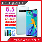 "4g S10+ 6.5""full Screen Android 9.1 Mobile Smart Phone Face Id Unlock 6g+128g Uk"