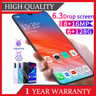 """6.3"""" Inch P30 Android 9.1 Face Unlocked Mobile Phones Smartphone 8g+64g Dual Sim"""