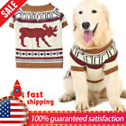 Comfort Dog Knit Sweater Christmas Dog Clothes Cute Reindeer Pattern Knit Coat