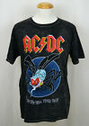 AC/DC Fly on Wall Tour T-shirt Legendary Rock Band Graphic Tee Faded Black NWT image