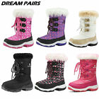 DREAM PAIRS Kids Boys Girls Mid Calf Knee High Waterproof Winter Snow Boots