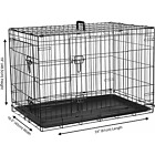 """Dog Cage Puppy Pet Crate Carrier - Small Medium Large S M L XL XXL Metal <br/> All Sizes 20"""" 24"""" 30"""" 36"""" 42"""" 48"""" UK Stock - Fast Ship"""