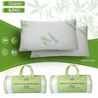 Hypoallergenic Bamboo Memory Foam Bed Pillow Queen/King Size w/Carry Bag US image
