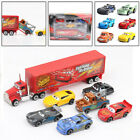 Cars 3 Lightning McQueen Racer Car&Mack Truck Kids Toy Xmas Gifts Collection Set