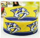 "7/8"" NASHVILLE PREDATORS NHL HOCKEY TEAM GROSGRAIN RIBBON BY THE YARD USA SELLER $1.72 USD on eBay"