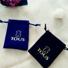 Fashion Useful Bear Velvet Thick Bag Jewelry Ring Necklace Gift Bag