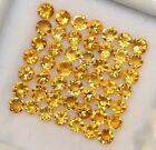 NATURAL YELLOW CITRINE 3 MM ROUND CUT FACETED LOOSE GTL CERTIFIED GEMSTONE LOT