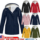 Womens Thicken Fur Lined Hooded Coat Jacket Trench Outwear Winter Parka Overcoat