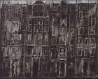 Art Fabric HD Print Oil Painting Jean Dubuffet Building Facades Home Wall Decor