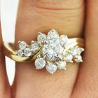 Goegeous 18k Yellow Gold Plated Women Ring White Sapphire Wedding Ring Size 6-10 image