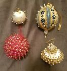 Vintage Beaded Christmas Ornaments RefOrn#